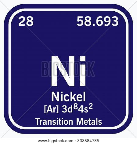 Nickel Periodic Table Of The Elements Vector Illustration Eps 10.