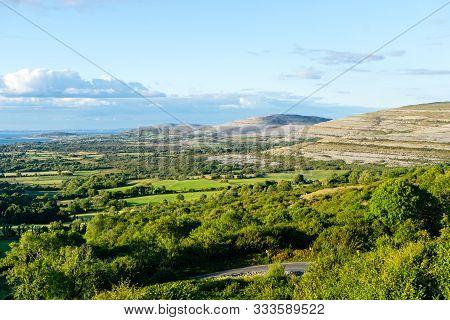 Burren Stony Landscape In Ireland Eire Outdoor