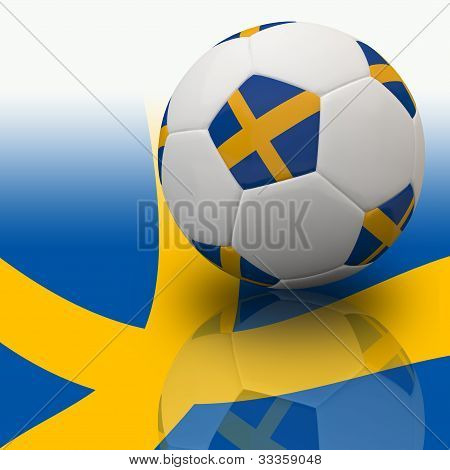 Europe flag on 3d football