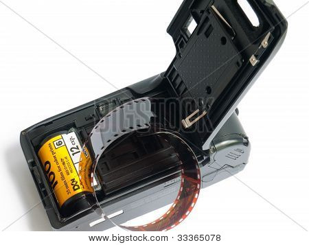 Old Film Point-and-shot Camera