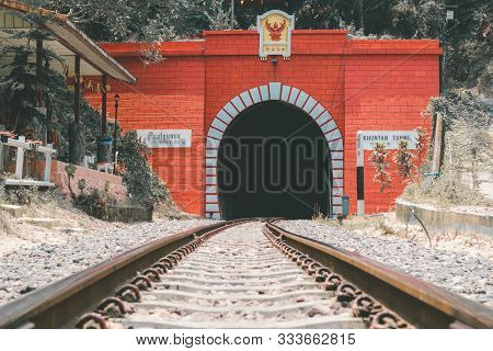 Lampang,thailand - April 24,2018 : Khun Tan Tunnel Tunnel That Cuts Through The First And Longest Mo