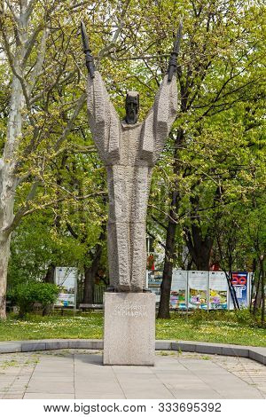 Sofia, Bulgaria- 30 April 2015: Memorial Of Saint Clement Of Ohrid, Patron Of The University Of Sofi