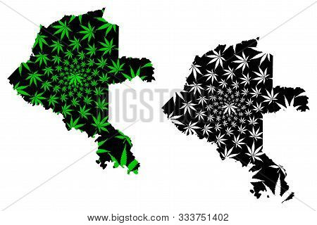 Vaupes Department (colombia, Republic Of Colombia, Departments Of Colombia) Map Is Designed Cannabis