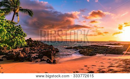 Beautiful Scene On Haleakala Volcano, Maui Island, Hawaii..