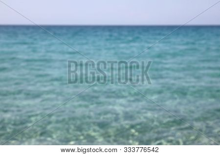 Simple Backgroud Of Ocean Intentionally Blurred Ideal As Backdrops Without People