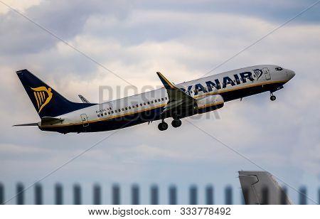 Bucharest, Romania - July 15, 2019: Ryanair, Ei-evg. Boeing 737 Ng - Max, Msn 40292, Aircraft, Is Se