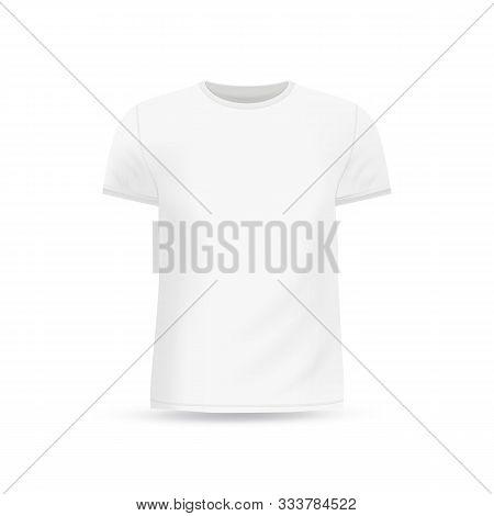 Men's White T-shirt Design Template