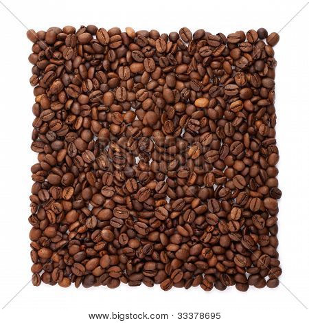 Coffee beans organised into foursquare