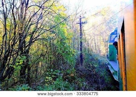 Landscape Viewed From The Old Mining Railway Anina-oravita In Banat, Transylvania, Romania, In Autum