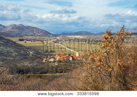 Mountain Valley, Balkan Road Trip. Bosnia And Herzegovina, Republika Srpska, Zubacko Polje. View Of
