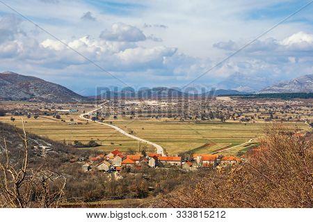 Balkan Road Trip. Bosnia And Herzegovina, Republika Srpska, Zubacko Polje. View Of Village Of Grab A