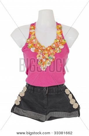 Female Camisole Tops And Short Pants