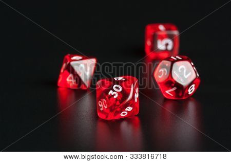 Set Of Polyhedra Dice For Dungeons And Dragons Games
