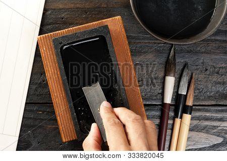 Closeup Traditional Inkstone
