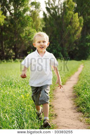 Happy Running Boy