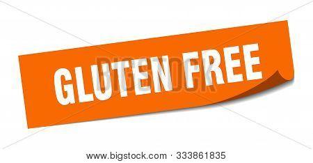 Gluten Free Sticker. Gluten Free Square Isolated Sign. Gluten Free
