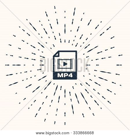 Grey Mp4 File Document. Download Mp4 Button Icon Isolated On Beige Background. Mp4 File Symbol. Abst