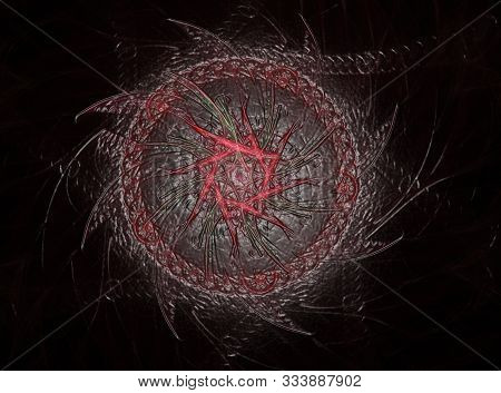 Abstract Design Made Of Sacred Symbols Signs Geometry And Designs On The Subject Of Astrology Alchem