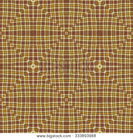 Beige Ochre Natural Ground Colored Seamless Rhombus Lines Pattern