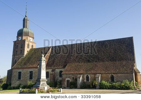 Saint-usuge (burgundy, France - Church