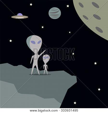 Aliens Are Going To Visit Other Planets For Exploration. Ufo Unidentified Flying Objects Are Not Yet