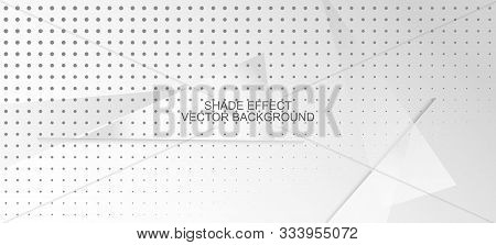 Halftone Modern Gray Vector Background. Dynamic Faded Banner. Halftone Wallpaper. Geometric Dots Tex