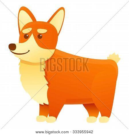 Canine Corgi Dog Icon. Cartoon Of Canine Corgi Dog Vector Icon For Web Design Isolated On White Back