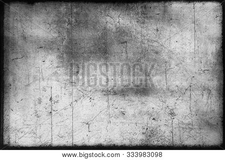 Abstract Dirty Or Aging Film Frame. Dust Particle And Dust Grain Texture Or Dirt Overlay Use Effect