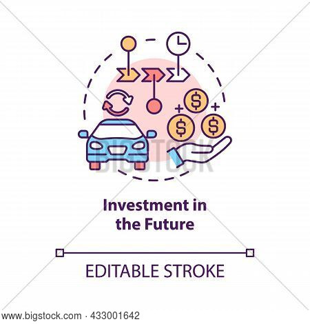 Investment In Future Concept Icon. Spend Money On Reliable Services And Goods. Consumerism Abstract