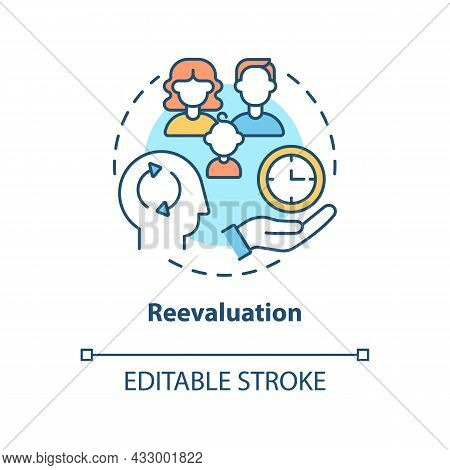 Reevaluation Concept Icon. Buying More Does Not Make You Happy. Reduce Excessive Consumption Abstrac