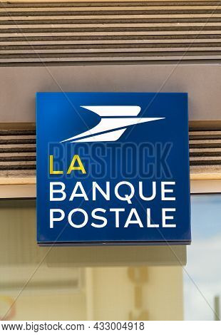 Le Havre, France - August 8, 2021: La Banque Postale Is A French Public Bank Founded On January 1, 2