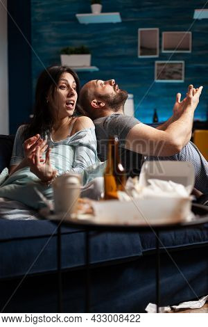 Vulnerable Couple Struggling With Mental Problems Health Going Through A Major Emotional Break Up Pe