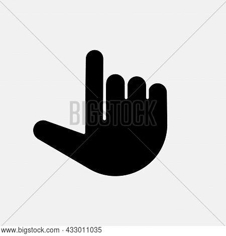 Forefinger Web Emoji Icon. Vector Simple Forefinger
