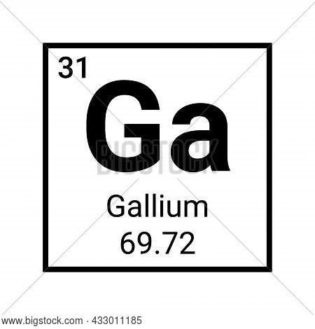 Gallium Periodic Element Table Symbol Icon Chemistry Science