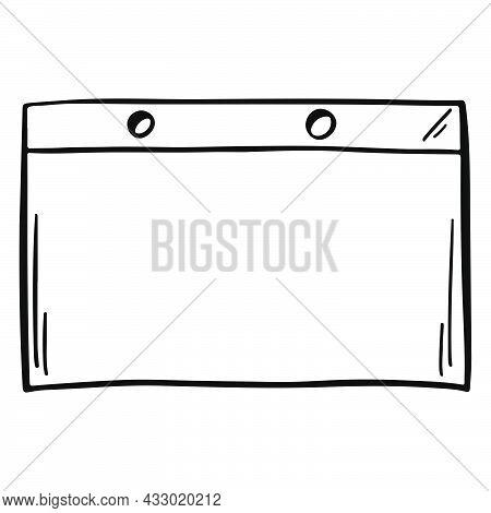 Notepaper In Sketch. Transparent Paper Note In Doodle. Hand Drawn Note Page. Notepaper In Doodle.