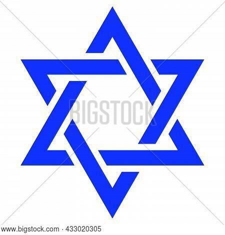 Star Of David. Shield Of David. Jewish Star. Israel Emblem.
