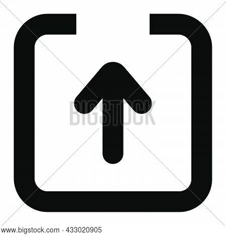 Share Symbol. Link Illustration. Outline Share Sign. Arrow In Square. Transparent Pictogram