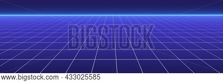 Blue technological futuristic background. Network connection, big data concept. 3d rendering