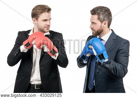 Punching For Leadership. Successful Ceo Boxers. Relentless Struggle And Success.