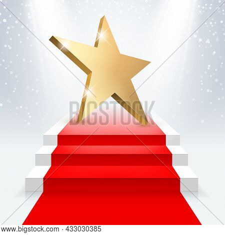 Golden 3d Star With Golden 3d Star With Highlights.