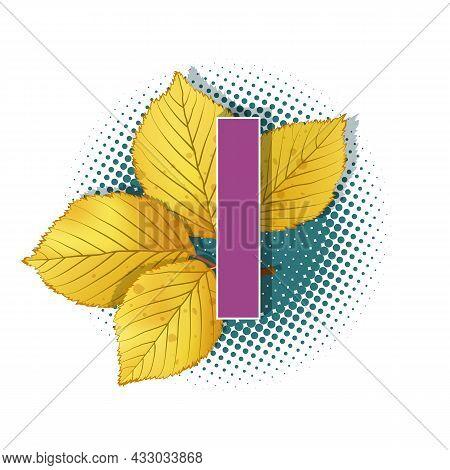 Autumn 3D Pop Art Alphabet - Colorful Bold Letter I