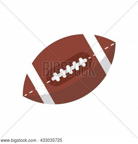Rugby Ball Isolated On White Background. American Football Ball. Vector Stock