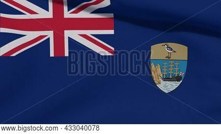 Flag Saint Helena, Ascension And Tristan Da Cunha Patriotism National Freedom , 3d Illustration