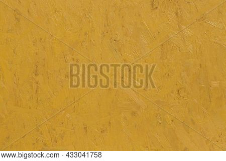 Yellow Panel Wooden Texture Of Pressed Wood Dsp Chipboard Background.