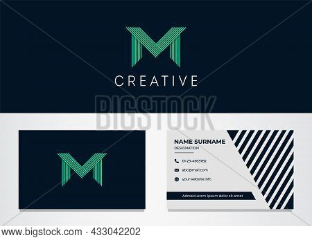 Letter M Logotype And Business Card Vector Template Design Illustration. Elegant, Dynamic Logo For Y