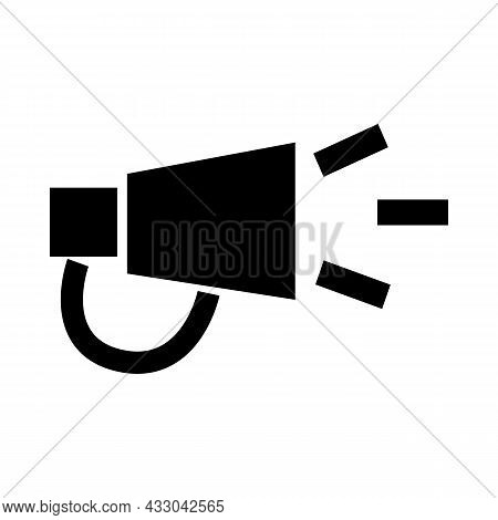 Megaphone Vector Icon On A White Background For Computer, Web And Mobile App. Scream Announcement Bu