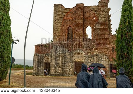 San Galgano, Chiusdino, Italy. August 2020. Conceptual Image Of Meteorological Variability: A Group