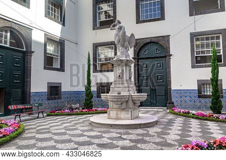 Funchal, Portugal - August 20, 2021: This Is The Inner Courtyard Of The City Palace (18th Century),
