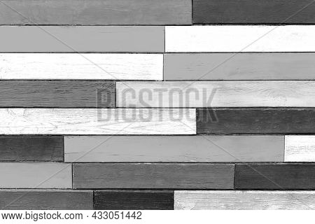 Black And White Dark Painted Wood Texture, Modern Interior Gray Boards, Decorative Plank Grey Surfac