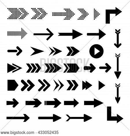 Set Of Arrow Right. Arrow Icon Image. Arrow Right Icon Symbol. Arrow Icon Flat. Arrow Icon Vector. A